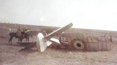 BE2c 4116 crashed behind enemy lines