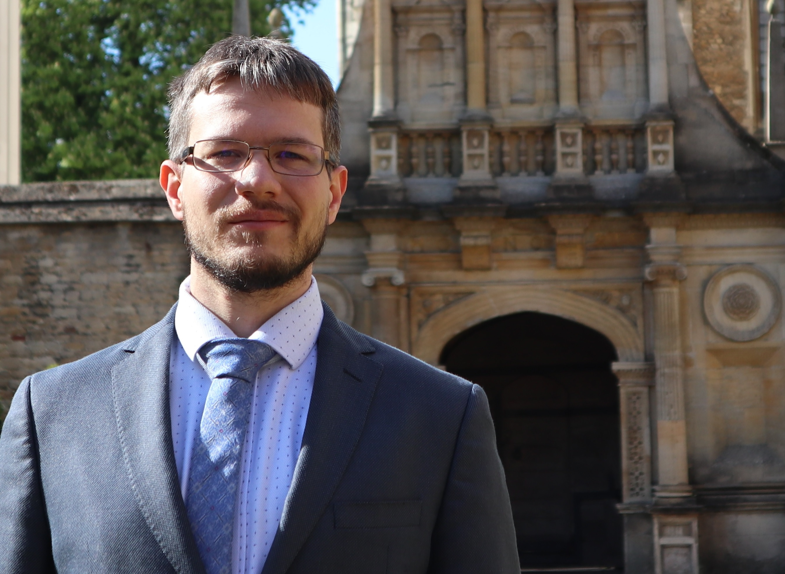 Dr Vedran Sulovsky pictured in front of the Gate of Honour