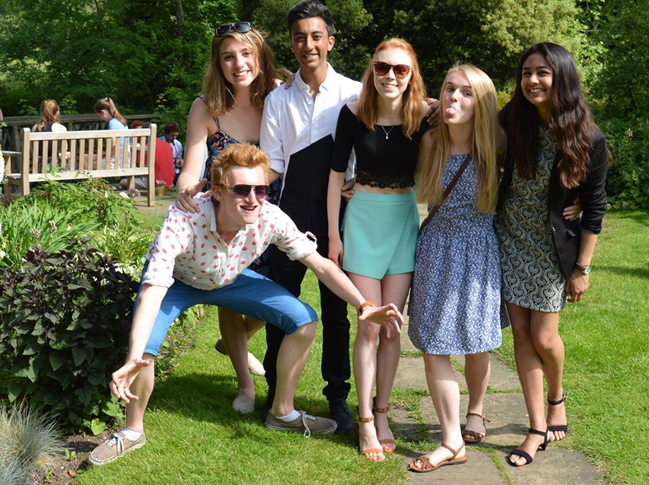 Photograph of the Cambridge University Geography society summer garden party