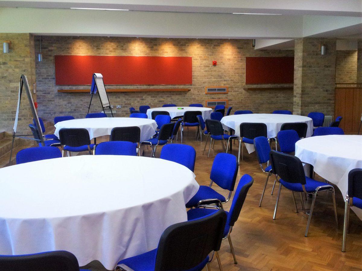 Harvey Court JCR - round tables