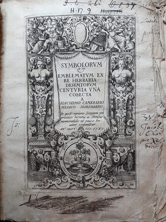 Title page with architectural border