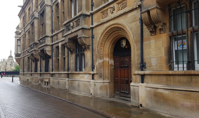 Trinity Street entrance to Caius College
